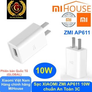 Củ Sạc iPhone, iPad XIAOMI ZMI AP611 10W - chuẩn An Toàn 3C Quốc Tế