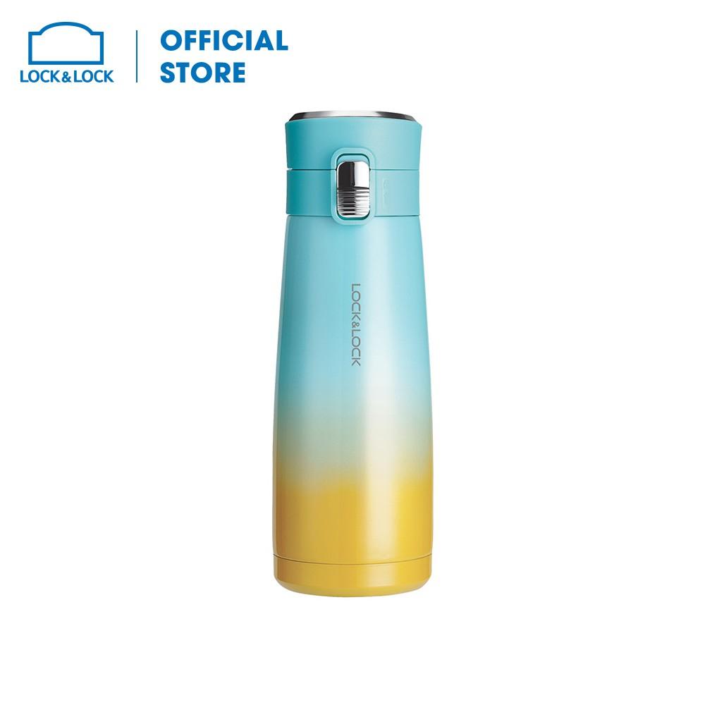 Bình giữ nhiệt Holiday Sunset I.d Tumbler 450ml Lock&Lock - Màu xanh + vàng LHC3234