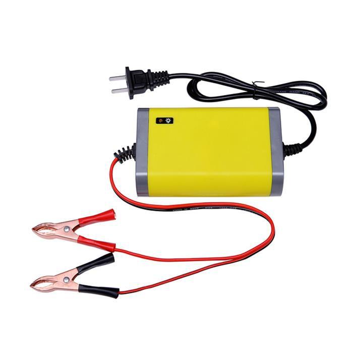 [Freeship 99] Bộ sạc bình ắc quy tự động ngắt 12V 2Ah-20Ah sạc acquy xe máy, xe ô tô, có đèn led báo đầy