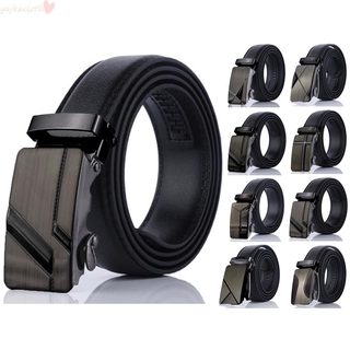 Fashionable Mens Waistband Waists Straps PU&Leather Smooth-Buckles Belts