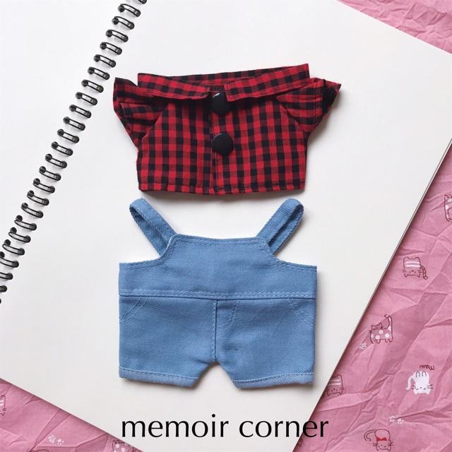 Outfit cho Doll 15 & 20 - Set Farmer (hàng may tay)