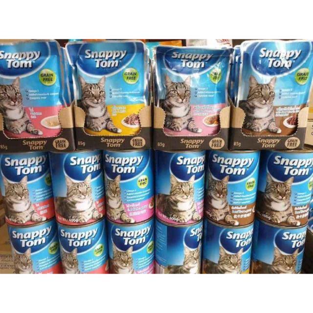 Pate snappy tom cho mèo gói 85gr