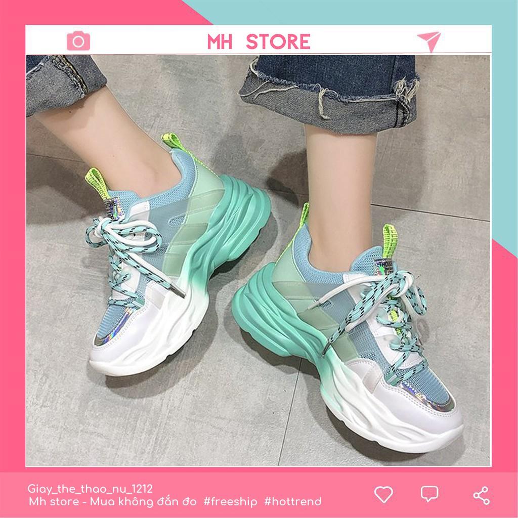 Giày thể thể thao nữ 👟Hot Trend 2020👟 Giày nữ Ulzzang kiểu dáng sneaker, đế pha 2 màu siêu đẹp phong cách cá tính G05