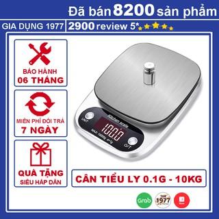 Cân tiểu ly điện tử nhà bếp mini định lượng 1g – 5kg, Cân tiểu ly làm bánh độ chính xác cao kèm 2 viên pin AAA