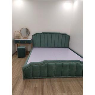 COMBO giường + bàn phấn bọc nỉ GIÁ SỐC