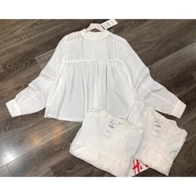 Áo trắng xuất HM