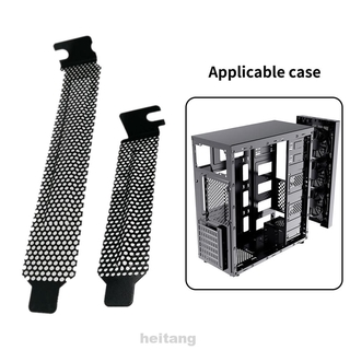 5pcs/set Desktop Heat Dissipation Hard Cooling Fan With Screws Computer Case Dust Filter Blanking Plate PCI Slot Cover