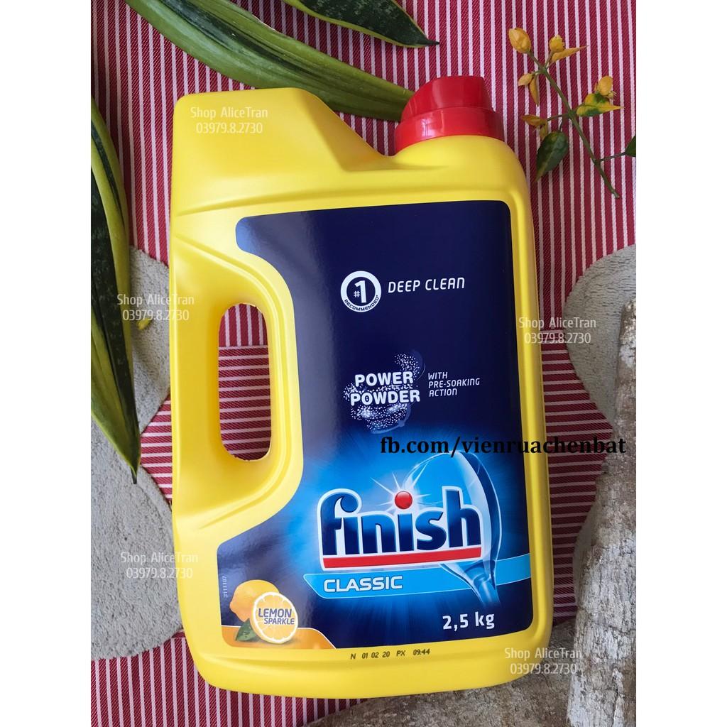 Bột rửa chén bát Finish, (Dùng cho máy rửa chén bát)
