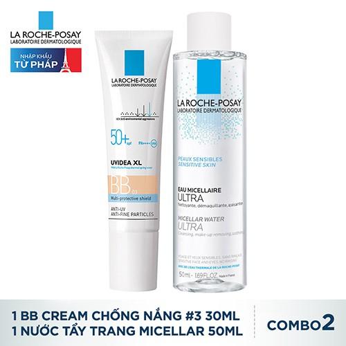 Bộ đôi BB Cream chống nắng La Roche-Posay Uvidea #03 30ml và Nước tẩy trang 50ml_TULRP00033BD