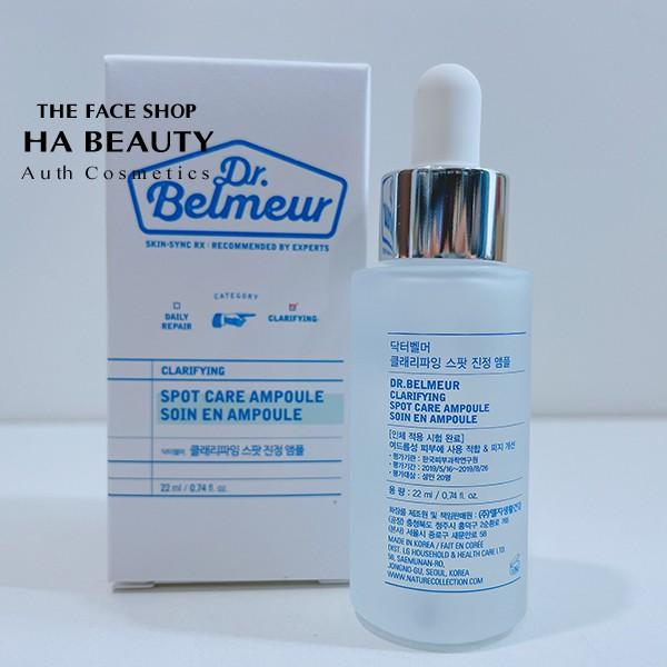 (Hàng auth) Serum cho DA MỤN Dr BELMEUR CLARIFYING Spot Ampoule Korea