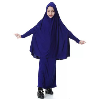 Muslim headscarf&Dresses for children's suits Long headscarf Fashion Hijab