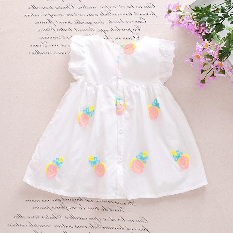 Đầm Dâu Cao Cấp Loại 1 (Không Phải Loại 2), 100% Cotton, Chất Siêu Mềm Siêu Mát cho bé gái, sơ sinh Ozaha