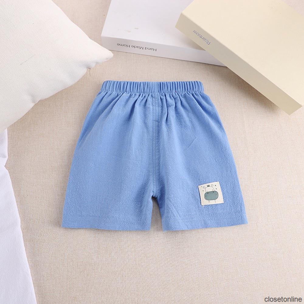 Quần Short Cotton Pha Ống Rộng In Họa Tiết Hoạt Hình Phong Cách Hàn Quốc Thời Trang Mùa Hè Cho Bé