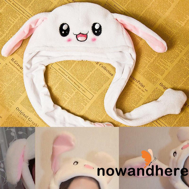 RVE-Rabbit Ear Hat Can Move Airbag Magnet Cap Gift Cute Plush Record Video