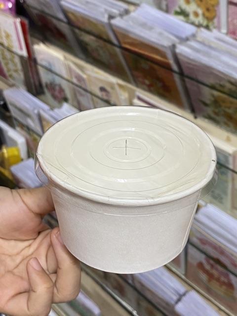 50 - 100 cái tô giấy trắng có nắp cỡ 4.5oz, 7oz, 10oz, 13oz, 16oz, 22oz hoặc 36oz