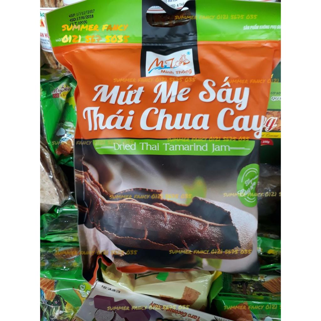 1kg Mứt me sấy Thái chua cay Minh Thông - dried Thai tamarine jam - bánh kẹo tết