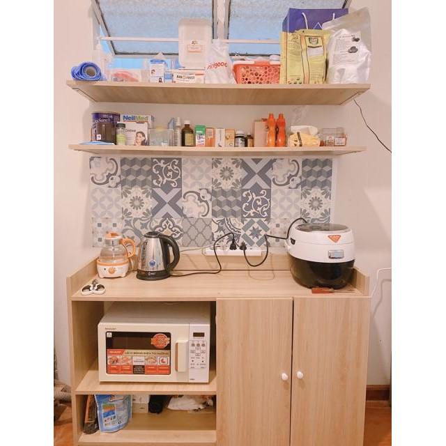 [ SALE VÔ ĐỊCH] Tủ Nhà Bếp Gỗ hiện đại 2 Cánh màu Vân Gỗ phòng bếp- GP39.3