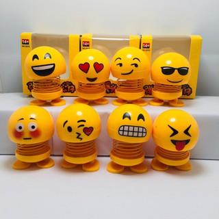 10 Thú nhún Emoji con lắc lò xo biểu cảm gương mặt-mẫu ngẫu nhiên