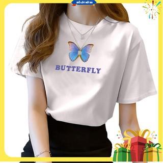 Áo croptop ✨ FREESHIP ✨ Áo Thun Nữ – Áo Thun thêu bướm, sắc nét, màu bền, vải mát, chất mịnTTA698