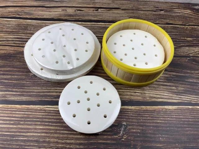 Xửng tre / lồng xửng tre viền nhựa hấp bánh bao , dimsum nhập khẩu