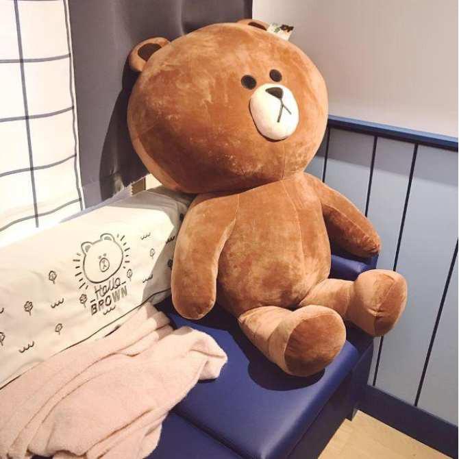 Gấu Bông Brow khổ vải 1,2m cao 1m - 49