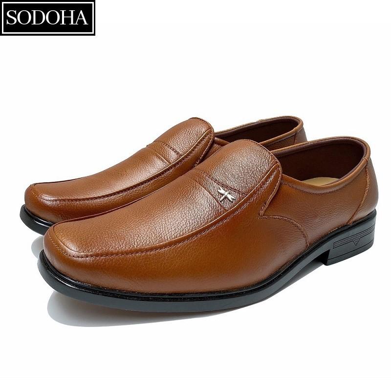 [Mã FASHIONMALLT4 giảm 15% tối đa 30K đơn 150k] Giày Lười Nam Da Bò SODOHA SDH9338
