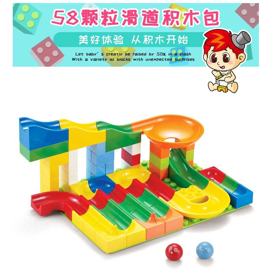 Bộ Lego duplo SIMPIM 58chi tiết về cầu trượt không tấm nền  NLG0071-58
