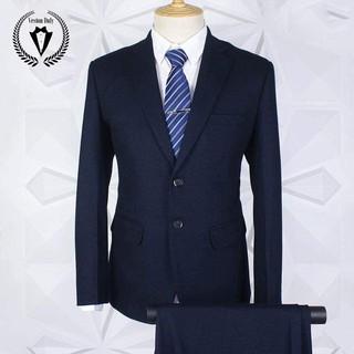 bộ vest nam trung tuổi màu xanh than lịch lãm