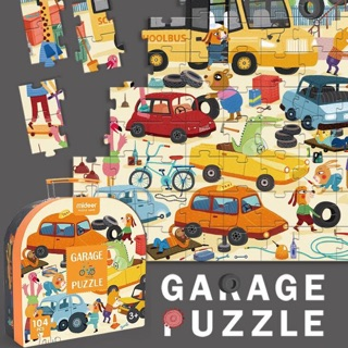 Ghép hình puzzle garage ô tô