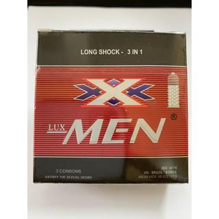 Bao cao su cao cấp Lux MEN (Hộp 3 chiếc) Gai gân,cải thiện xuất tinh sớm thumbnail