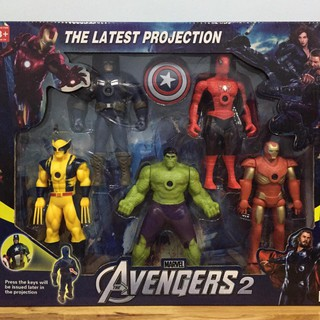 Bộ đồ chơi mô hình siêu người hùng Avengers – có đèn