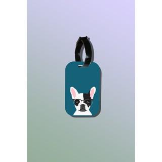 Tag hành lý du lịch in hình Pet Lover - Hipster French Bulldog thumbnail