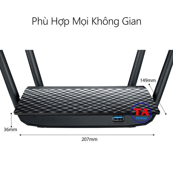 [Mã 267ELSALE hoàn 7% đơn 300K] Bộ phát wifi ASUS RT-AC1300UHP - Băng tần kép - Chuẩn AC1300.