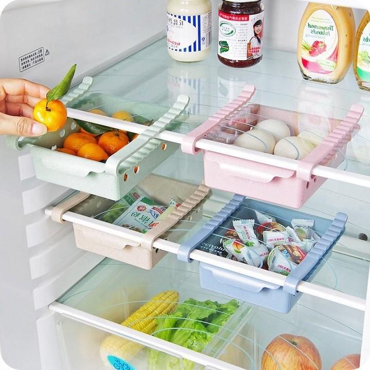 Khay phụ đựng đồ kẹp tủ lạnh thông minh tuancuashop