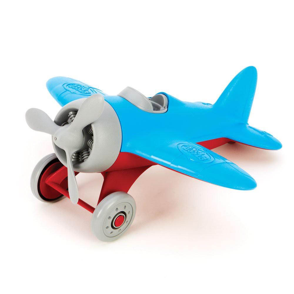 Máy bay màu blue- hãng Green toy 100% made in USA- không chứa BPA