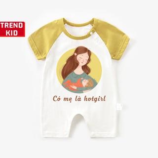[Mã TREND20 giảm 15% đơn 99K] Bodysuit, bộ liền thân cho trẻ sơ sinh in hình Hottgirl Michley
