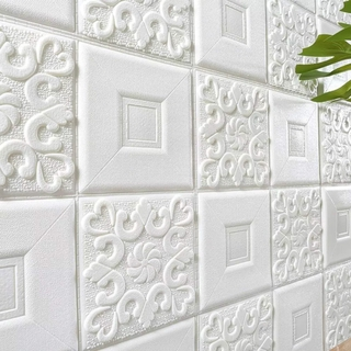 [ Ready Stock ] 35*35cm PE Foam Anti-Noise Wallpaper/ 3D Self-Adhesive Waterproof Wall Sticker/ DIY Background Roof Decoration Brick Wall Sticker/ TV Background Wall Skirt Ceiling Home Decoration