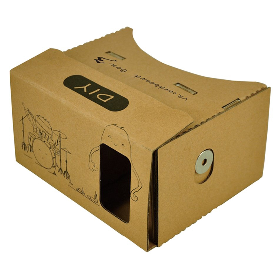 #Good#DIY Cardboard VR Virtual Reality 3D Viewing Glasses For 3.5''-6.2'' Cellphone