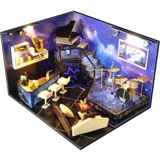 Kèm Mica và keo dán – Mô hình nhà gỗ búp bê Dollhouse DIY – TW3 Star Dream Friend