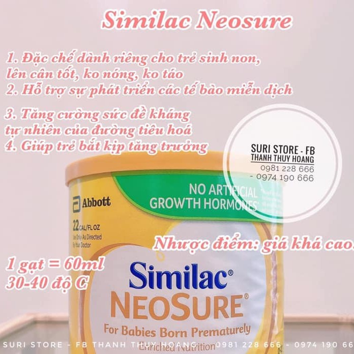 Sữa Similac Neosure sinh non 371g (Hộp)