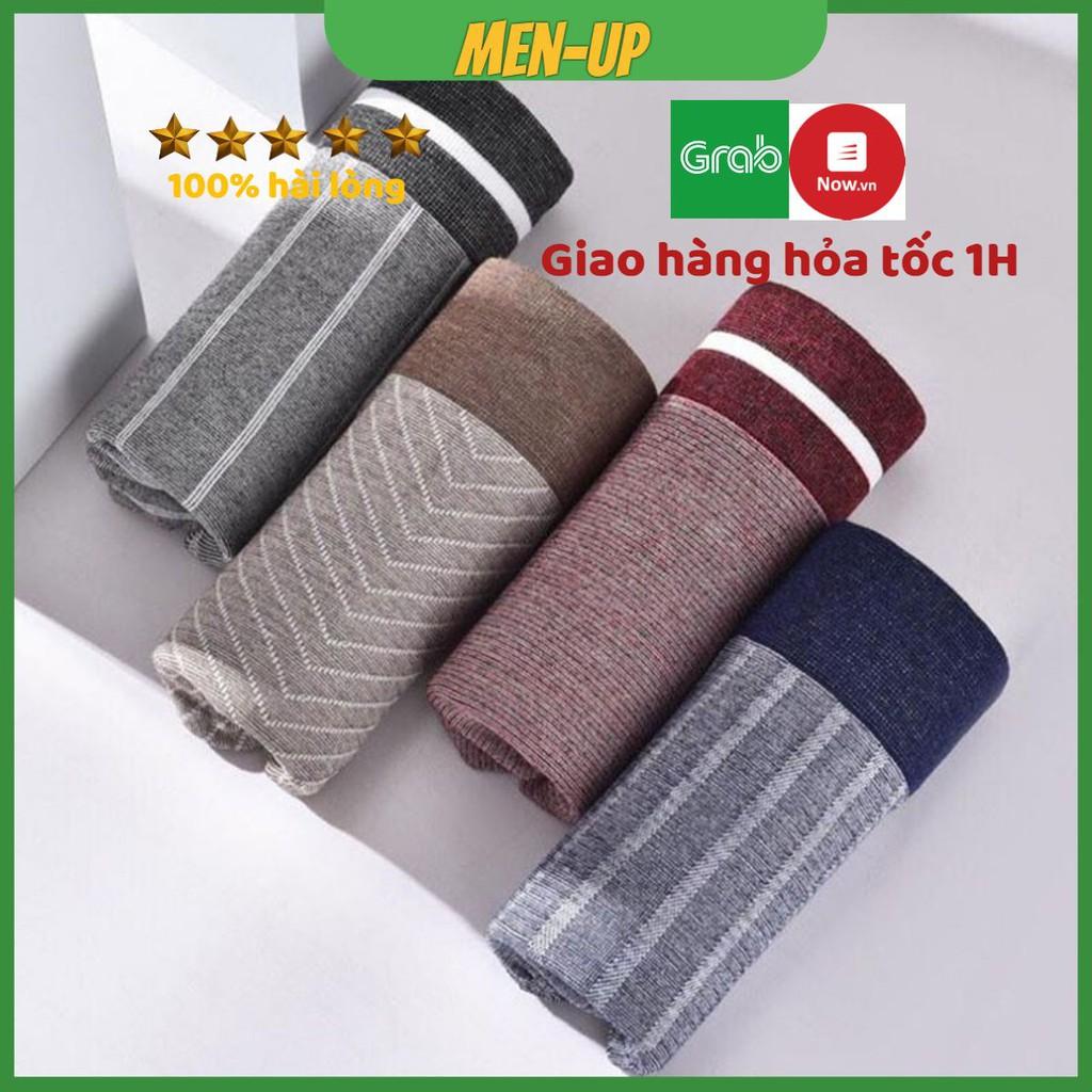 Quần lót nam ️boxer - Quần sịp nam vải bambo ( sợi tre) dệt kim không đường may DK01
