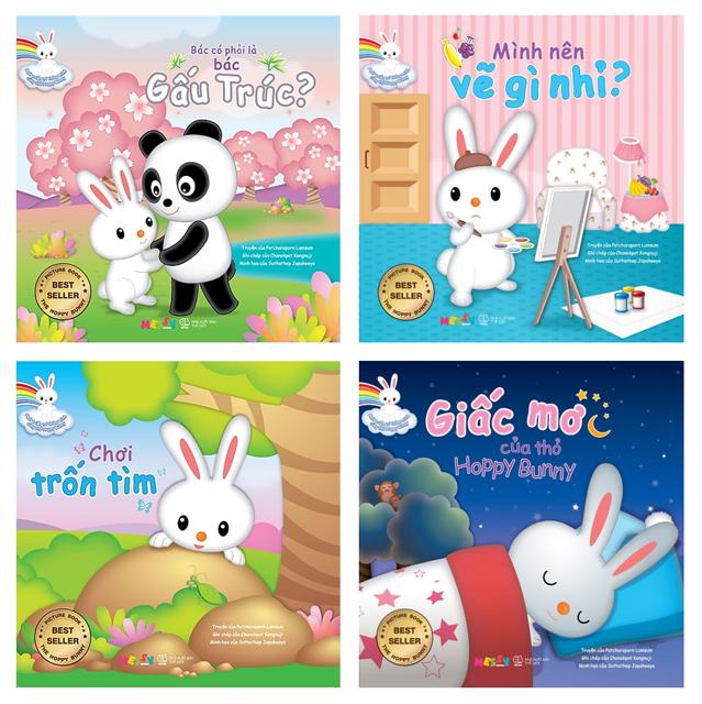 Sách - Combo Phát Triển Trí Thông Minh Cùng Thỏ Hoppy Bunny (4 Cuốn)