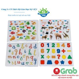 Bảng tranh ghép nam châm dính tủ lạnh IQVIỆT chất liệu nhựa cao su eva cao cấp an toàn cho trẻ kích thước 28x18x0.5 thumbnail