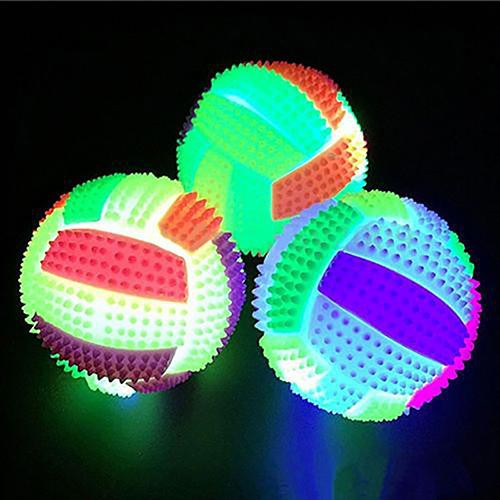 Large♥LED Flashing Color Changing Bouncing Massage Hedgehog Ball Volleyball Kid Toy
