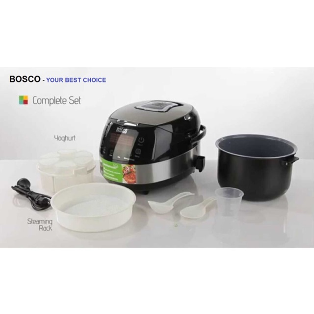 [ELHAR150 giảm tối đa 150K] Nồi cơm điện tử Bosco 3D BMC900X sang trọng