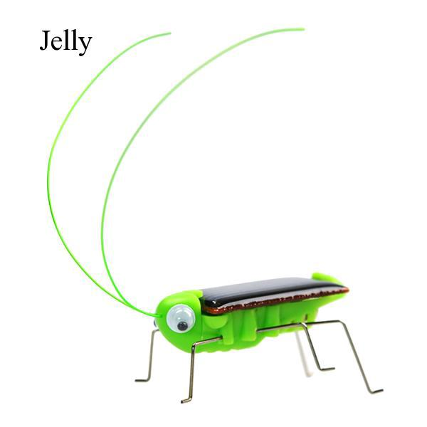 Cute Funny Solar Insect Grasshopper Robot Toy for Kids Children Educational J759