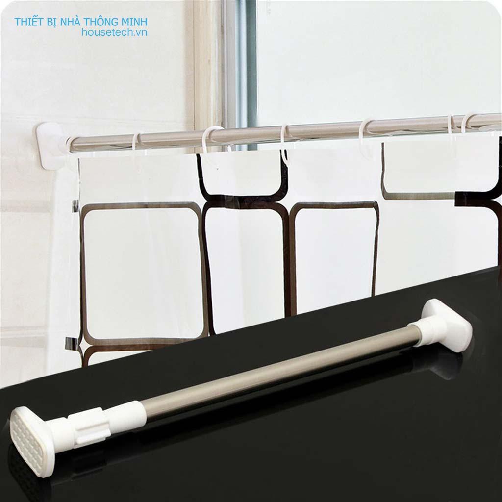 Thanh treo rèm cửa inox không cần khoan tường HT03 (50cm đến 260cm)