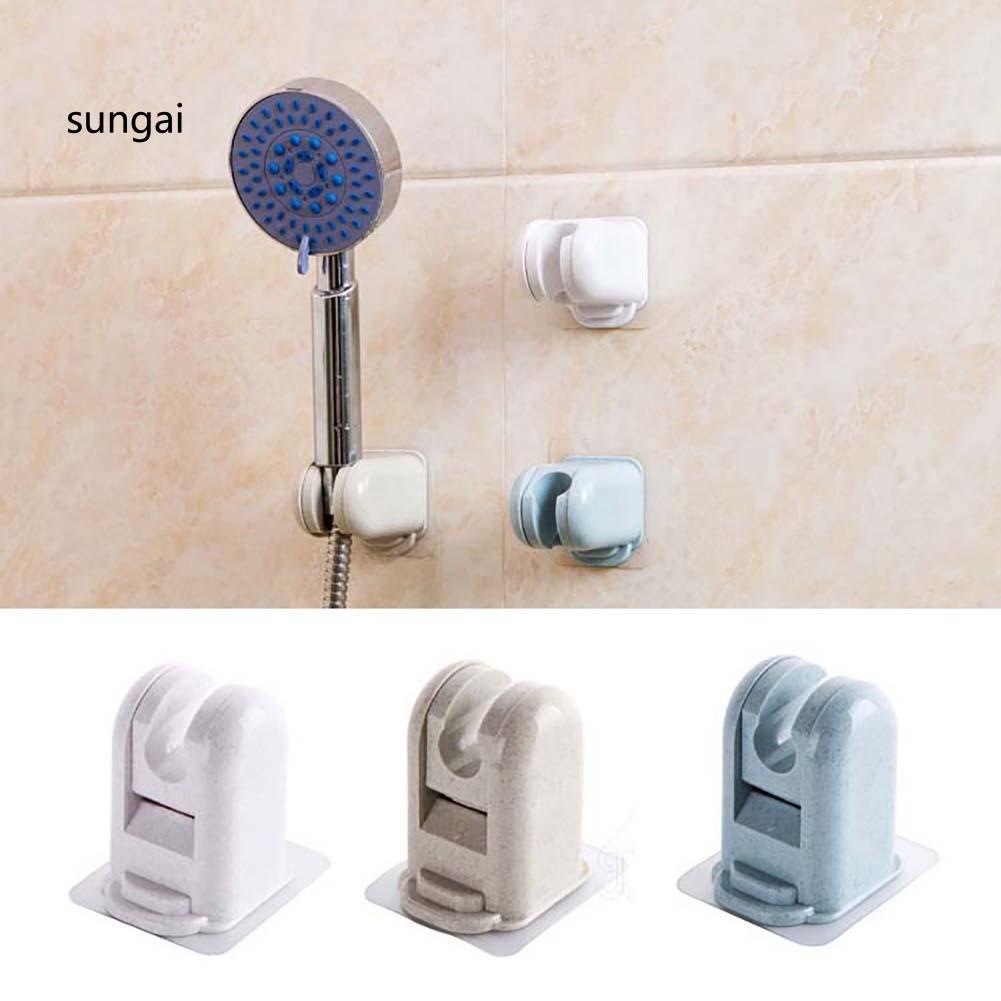 ☆SG☆Bathroom Plastic Adjustable Adhesive Wall Mounted Shower Head Bracket Holder