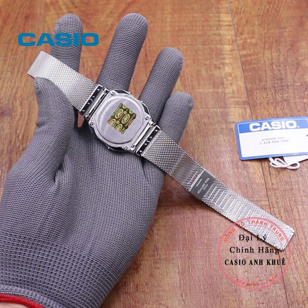 Đồng hồ Unisex Casio Vintage A700WM-7ADF siêu mỏng