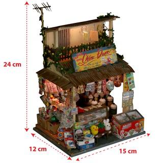 Mô Hình Gỗ Sài Gòn Xưa Tự Ráp DIY -Thế Giới Tí Hon - Tiệm Sạp Khô - SG01
